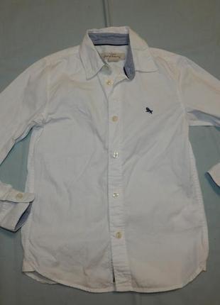 Рубашка белая модная на мальчика 8-9 лет 134 см l.o.g.g.