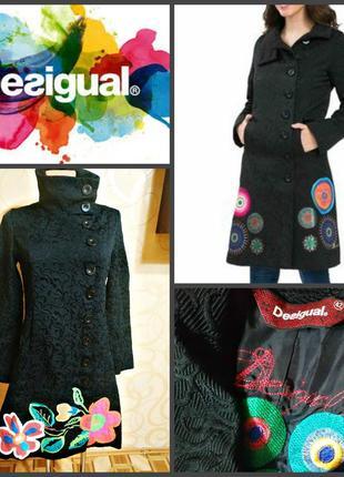 Шикарное пальто desigual, оригинал