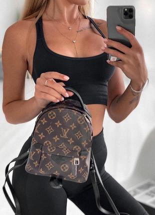 Удобный женский рюкзак louis vuitton в шоколадном цвете 😍