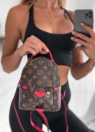 Стильный женский рюкзак louis vuitton в шоколадном цвете 😍