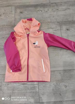 Куртка дождевик грязепруф на флисе