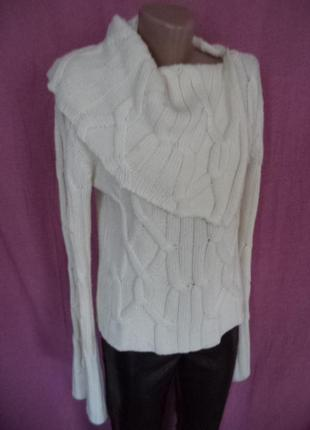 Шикарно теплющий свитер с шикарным воротом и царским рукавом avante premier paris