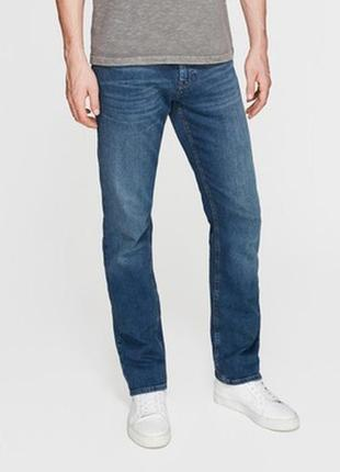🎁1+1=3 модные узкие зауженные мужские синие джинсы marks&spencer, размер 48 - 50