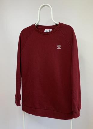 Оригинальный красный свитшот adidas из коллекции 19 года
