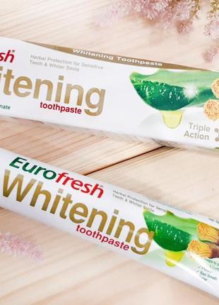 Зубная паста отбеливающая eurofresh whitening 50 г