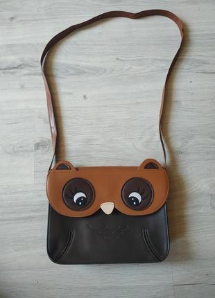 Женская сумочка с совой, сумочка через плече