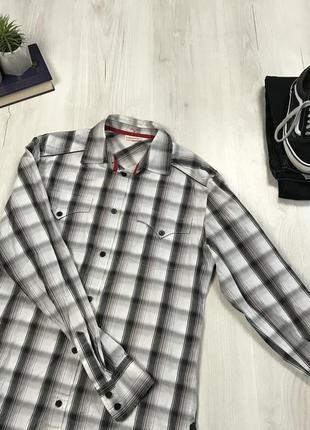 Рубашка levis качественная женская рубашка в клетку черно белая левайс