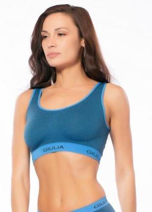 Бесшовный спортивный бра топ спортивний майка для спорта фитнеса giulia