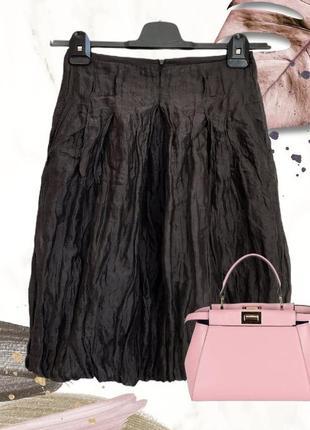 Коричневая ♥️♥️♥️ шелковая юбка hugo boss.