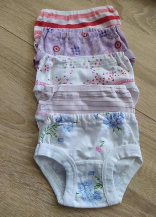 5 шт трусики на памперс под платье для девочки