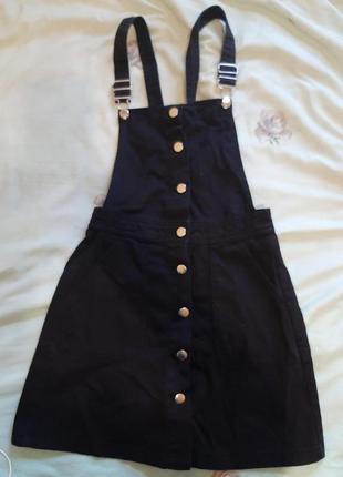 Сарафан джинсовый черный