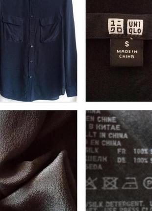 Базовая черная рубашка с карманами из 100% шелка