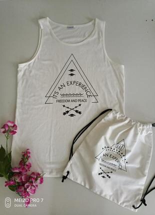 Комплект майка +сумка от немецкого бренда boutique l