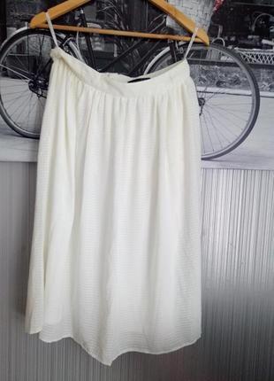 Стильная модная легкая юбка миди размер м