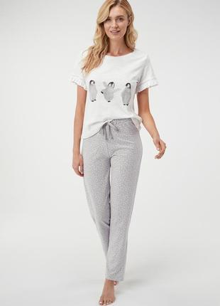🍒милая новая пижама для сна*пижама с штанами*пижама с принтом пингвины