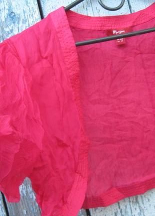 Летнее болеро накидка на сарафан в офис  батал 100% шелк monsoon