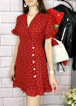 Нова красива літня сукня принт сердечки