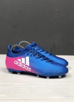 Бутсы adidas x 16.3 fg original 41 копочки бампы шиповки футбольные