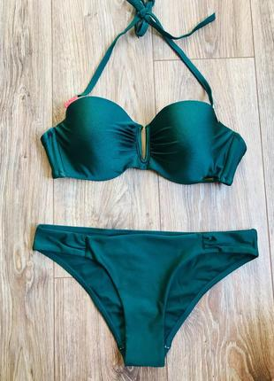 Розпродаж!!! шикарний купальник смарагдового кольору