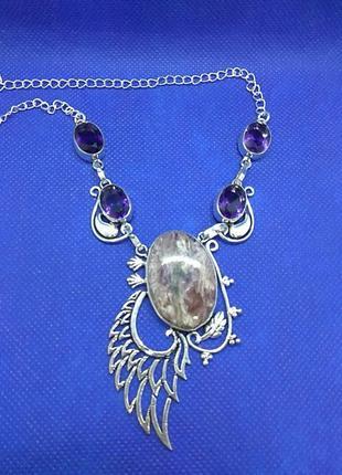 Винтажное серебряное ожерелье из великобритании