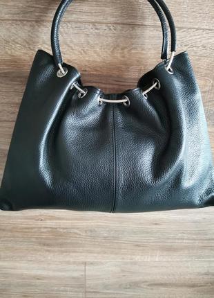 Женская сумка с короткой ручкой из натуральной кожи vera pelle made in italy