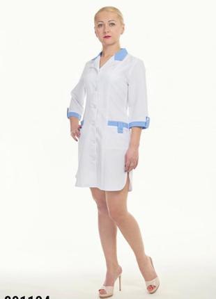Халат медицинский, габардин, р. 40-60; женская медицинская одежда, 891104
