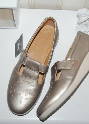 Туфли сандали кожа на липучке 40 р 26 см англия