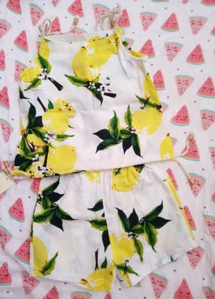 Очень крутой костюмчик с лимончиками