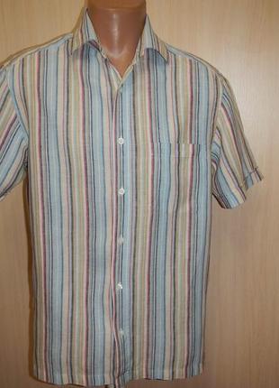 Льняная рубашка marks&spencer p.s