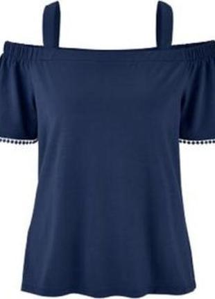 Базовая синяя блуза германия