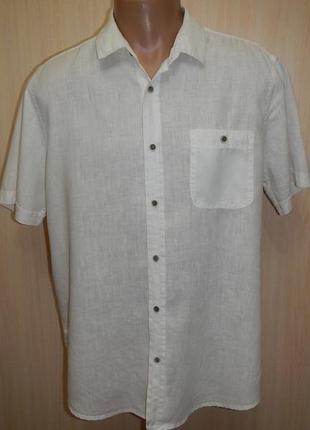 Льняная рубашка f&f p.l