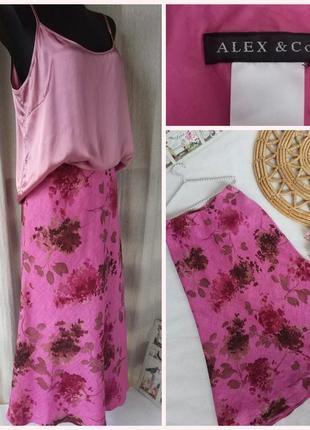 Фирменная стильная качественная юбка из льна