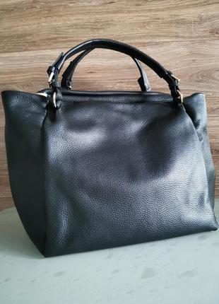 Женская сумка с короткими ручками из натуральной кожи vera pelle made in italy