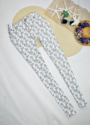 Цветастые летные джинсы-стрейч