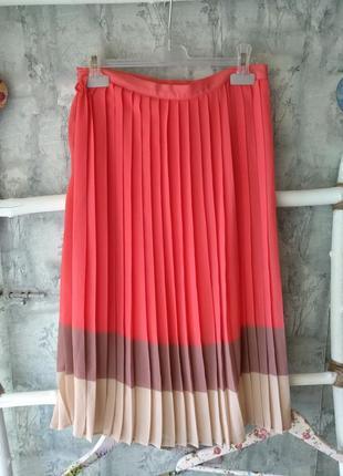 Шикарнейшая коралловая юбка плиссе!