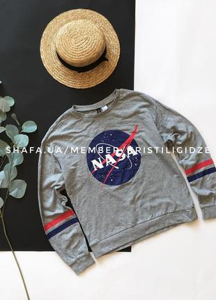 Классный базовый свитшот nasa h&m divided р. xs