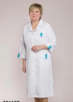 Халат медицинский, габардин, р. 48-66; женская медицинская одежда, 891103