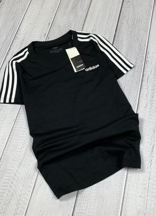 Хлопковая футболка adidas original xs s m черная женская новая с бирками