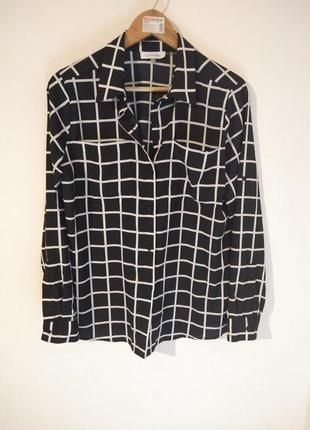 Calvin klein рубашка блузка в клітинку рубашка блузка блуза в клетку