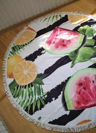 Пляжный коврик-полотенце с кусочками фруктов