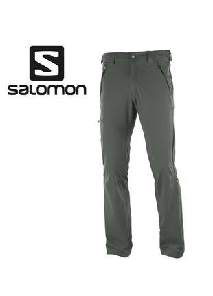 Трекинговые штаны salomon wayfarer hiking pants - m