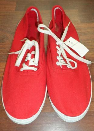 Кеды мокасины красные размер 42,5