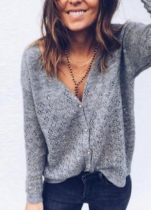 Серый  джемпер ,кофта ,кардиган  new look