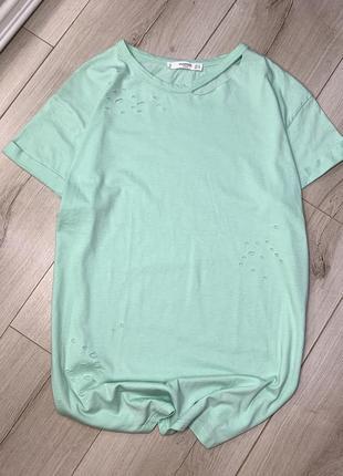 Хлопковая футболка mango