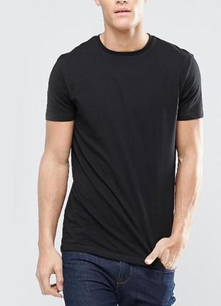 Черная базовая однотонная футболка 100% хлопок размеры
