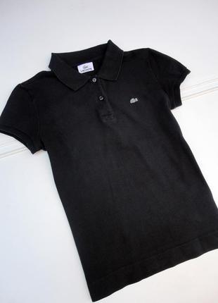 Черный поло lacoste original