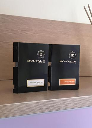 2 нишевых оригинальных пробника montale white aoud и honey aoud