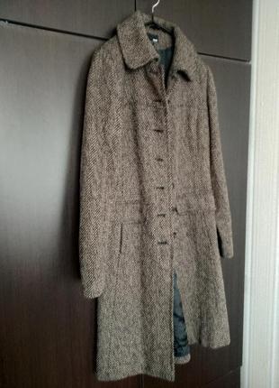 Пальто коричневое н&м
