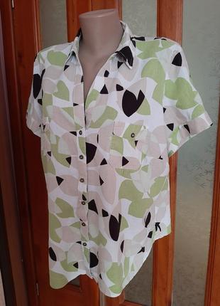 Красивая, качественная блуза, лен