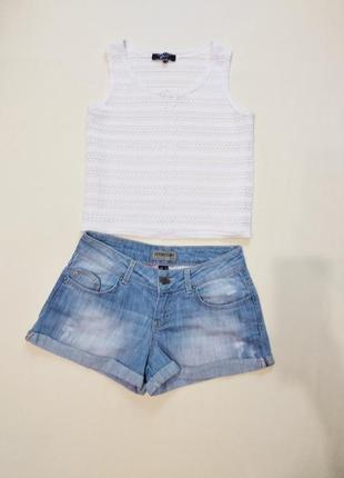 Актуальные джинсовые шорты bershka xs-s